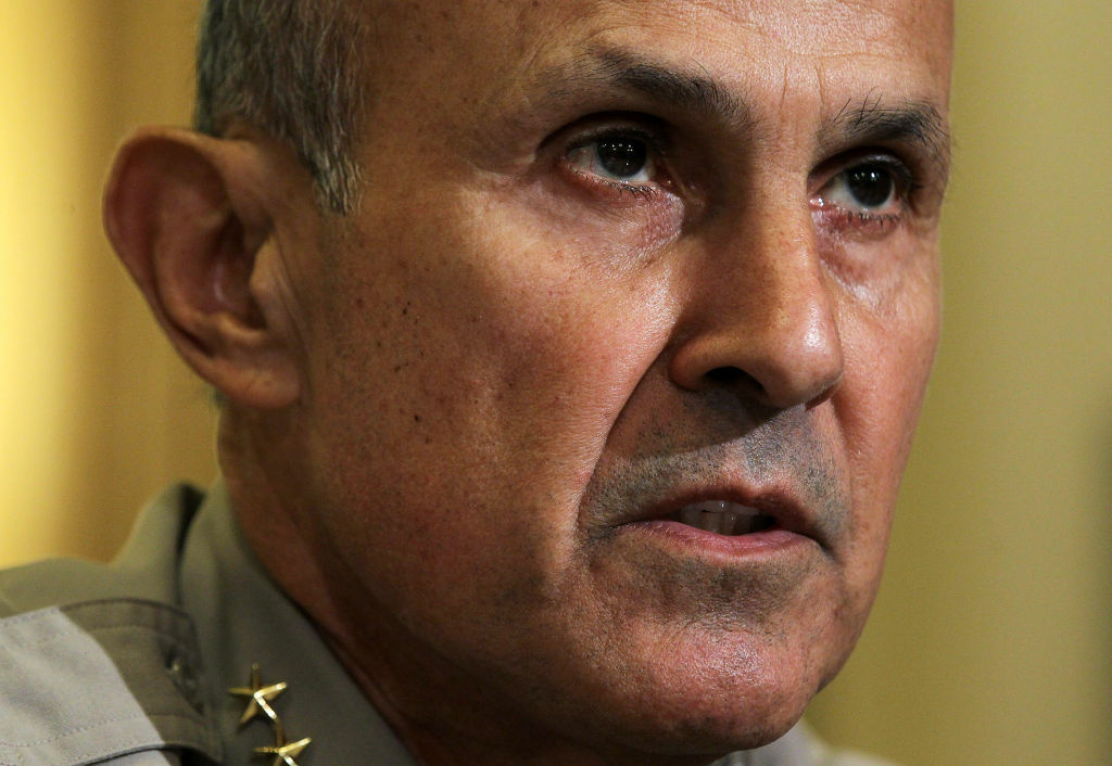 Sheriff Leroy Baca  of Los Angeles County, California, testifies during a hearing before the House Homeland Security Committee March 10, 2011 on Capitol Hill in Washington, DC. The Homeland Security held the hearing to examine