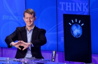Contestant Ken Jennings competes against 'Watson'