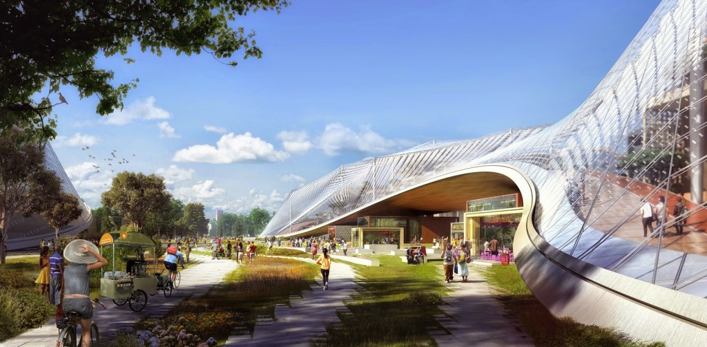 A rendering of proposed new plans for 'Googleplex.'