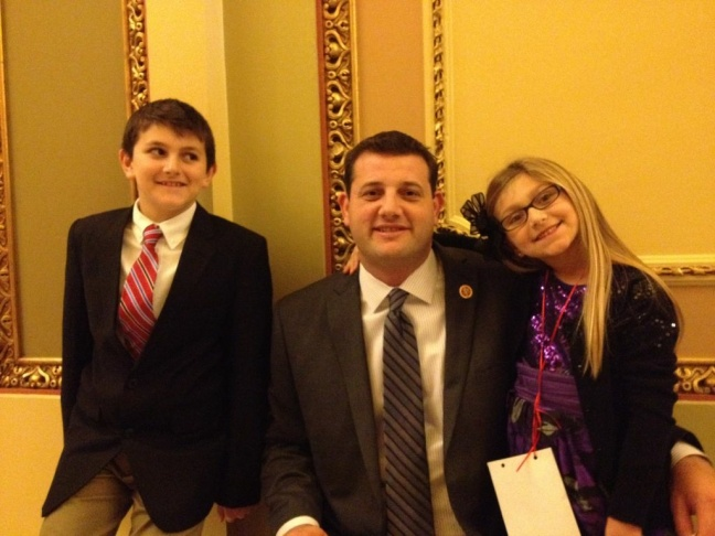 Republican freshman Congressman David Valadao of the Central Valley, seen here with son Conner and daughter Madeline, assembled a staff with people who worked for him in Sacramento, along with a few D.C. veterans.