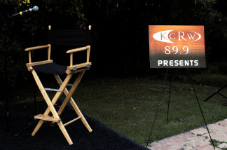 The empty stage is seen before a live presentation of the political week-in-review show 'Left, Right & Center' at Arianna Huffington's home on July 13, 2003 in Brentwood, California. The special presentation was a benefit fundraiser for National Public Radio station KCRW's Million Dollar Match Campaign.