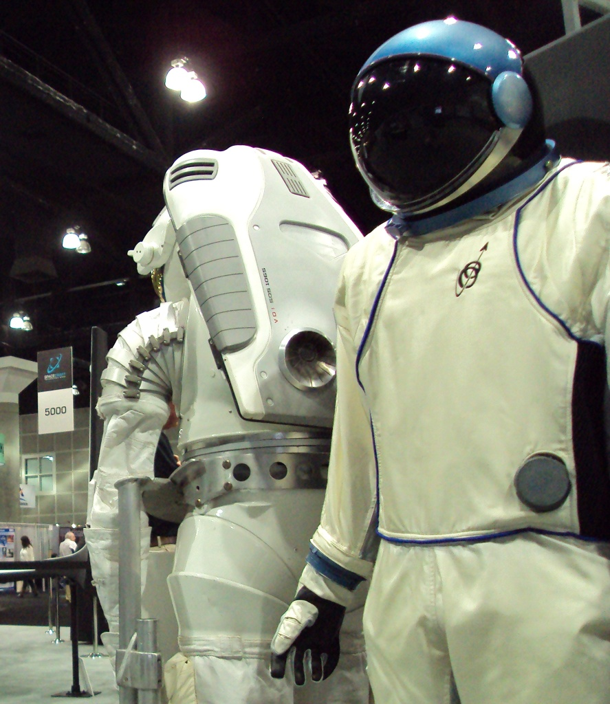Stylish space-wear from Orbital Outfitters on display at the Spacecraft Technology Expo.