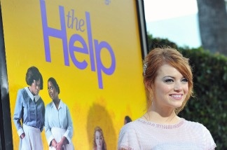 Actress Emma Stone attends the premiere of The Help.