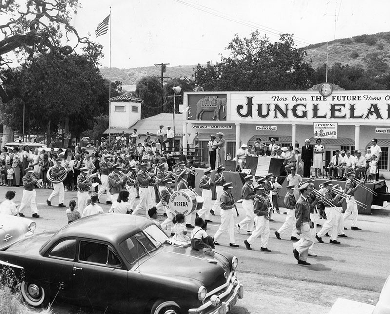 Jungleland was a zoo and amusement park, well known for providing wild animals for Hollywood movies and television. It was originally founded as Goebel's Lion Farm in Thousand Oaks in 1926, the name changed to World Jungle Compound in 1929 and to Jungleland in 1955. It closed in 1969.