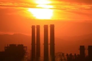 The Department of Water and Power (DWP) San Fernando Valley Generating Station is seen in Sun Valley, California.