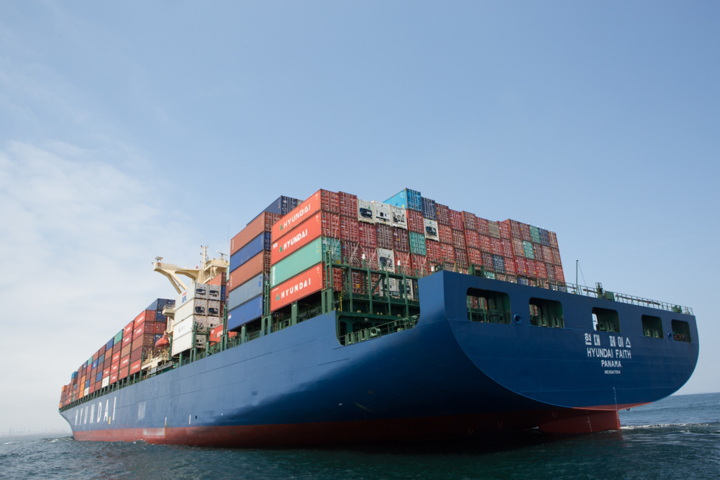 Port Pilot Brett McDaniel gets onto large cargo ships like the Hyundai Faith to direct them into The Port of Los Angeles.