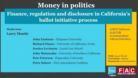 Money in politics: Finance, regulation and disclosure in California's ballot initiative process