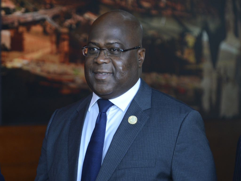 Congo's president Felix Tshisekedi arrives at the 32nd African Union Summit, in Addis Ababa, Ethiopia on Feb. 10, 2019.