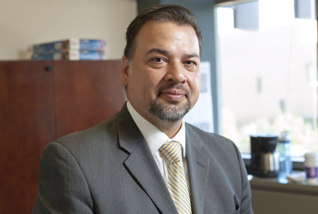 Attorney Luis Rodriguez, incoming president of the California State Bar, sits for a portrait in his office in downtown Los Angeles, California, on Thursday morning, August 29, 2013.