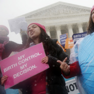 Demonstrators in Washington, D.C., argued for upholding the Affordable Care Act's birth control provision in 2015. The rollback of the rule is likely to spur further lawsuits, analysts say.