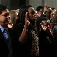 Napolitano Presides Over Naturalization Ceremony In Washington