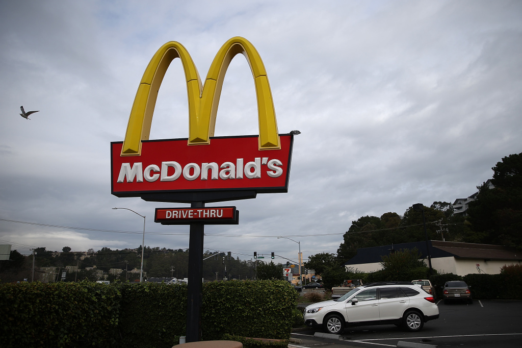 A sign is posted outside of a McDonald's restaurant on December 8, 2014 in San Rafael, California.