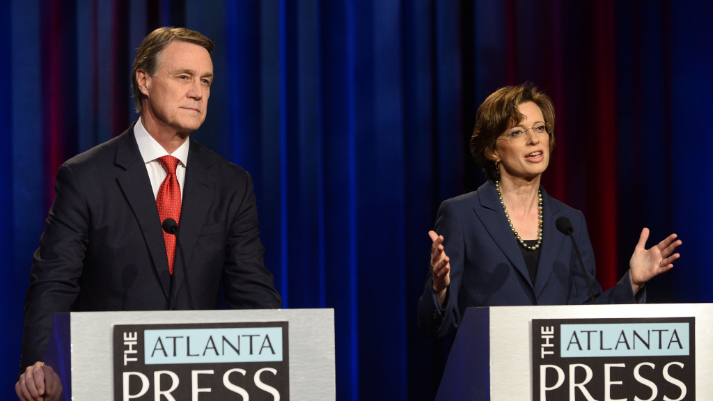 It's a longshot, but there's a scenario where control of the Senate might not be known until January 6 — three days after the start of the next Congress. That's when Republican David Perdue and Democrat Michelle Nunn would face each other in a Georgia runoff if one of them fails to win 50 percent on Tuesday.