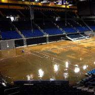 UCLA Flooding Pauley Pavilion