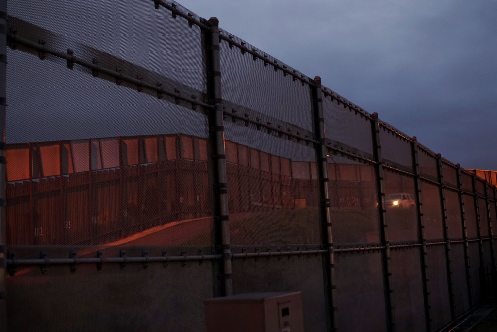 The United States - Mexico Border wall near the San Ysidro Port of Entry in San Ysidro, California on Friday, February 10, 2017.