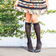 These knee-high socks are actually compression socks created by Rejuva Health, based in California.