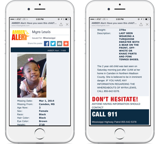 Slideshow: Facebook launches Amber Alerts to help find missing