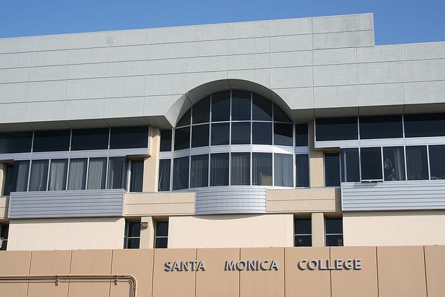 The exterior of Santa Monica College.