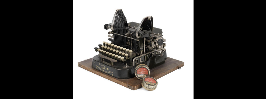 The Oliver typewriter used by British author E.M. Forster