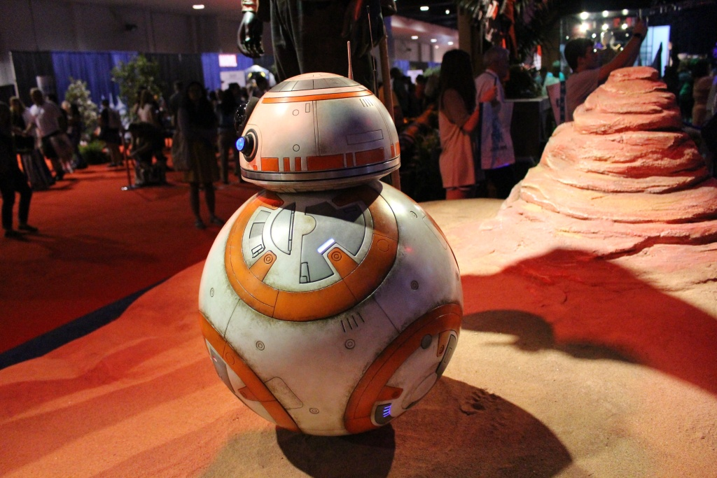 Don't get sad, BB-8 — even though your grammar may not be as strong as Data's. (File: The BB-8 droid from