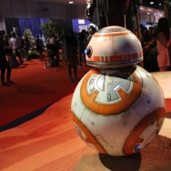 """The BB-8 droid from """"Star Wars: The Force Awakens"""" at D23 Expo 2015."""