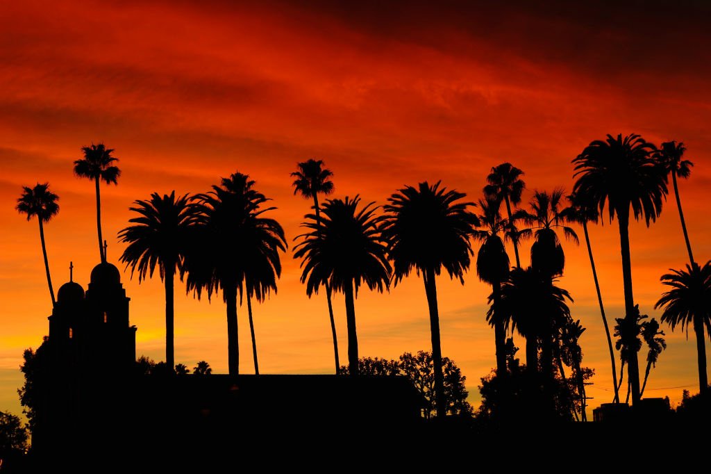 A Los Angeles sunset.