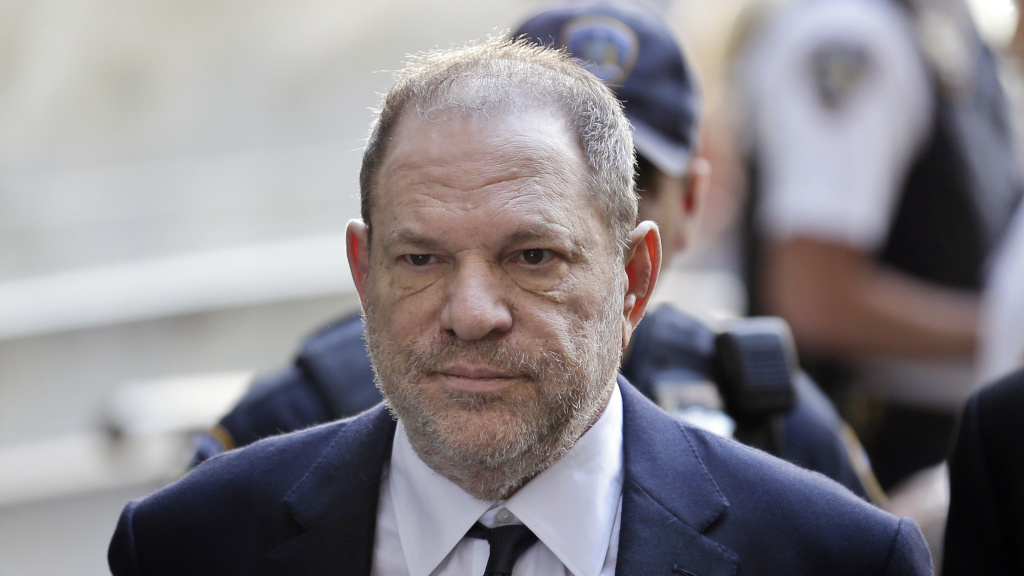 Harvey Weinstein arriving to court in New York City on Tuesday where he pleaded not guilty to rape and criminal sex act charges.