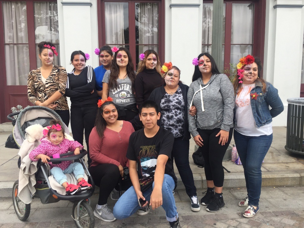 Students from the San Gabriel Conservation Corps YouthBuild School in El Monte visited Olvera Street in downtown Los Angeles where they held a