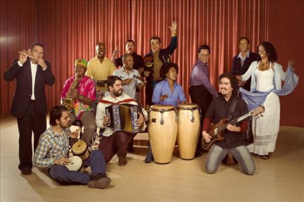 Group shot of the Colombian collective known as Ondatrópica