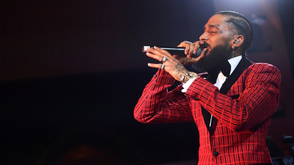 Nipsey Hussle performs onstage at the Warner Music Pre-Grammy Party at the NoMad Hotel on Feb. 7, 2019 in Los Angeles.