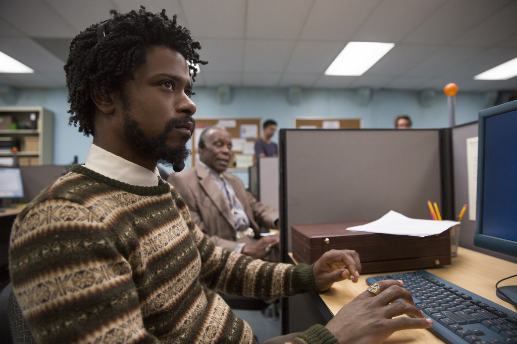 Lakeith Stanfield as Cassius Green and Danny Glover as Langston star in Boots Riley's SORRY TO BOTHER YOU, an Annapurna Pictures release.