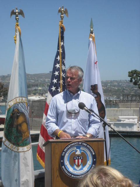 California Secretary of Natural Resources Mike Chrisman says the state depends on the 24.7 million dollars of money it gets from the federal Coastal Impact Assistance Program to mitigate impacts of oil and gas production on the marine environment.