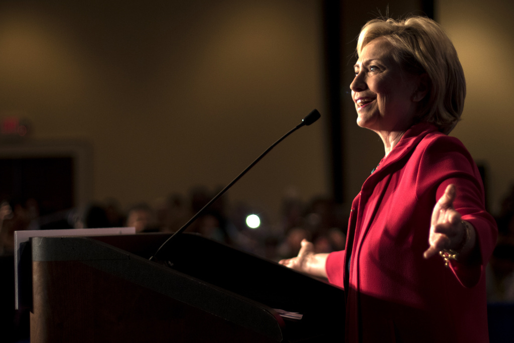 Democratic presidential hopeful Hillary Clinton speaks at a Hillary For America discussion on Thursday, July 23, 2015 in Columbia, S.C.