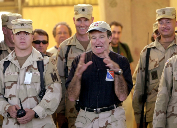 FILE - This Aug. 14, 2009 file photo shows actor Robin Williams  in Los Angeles.