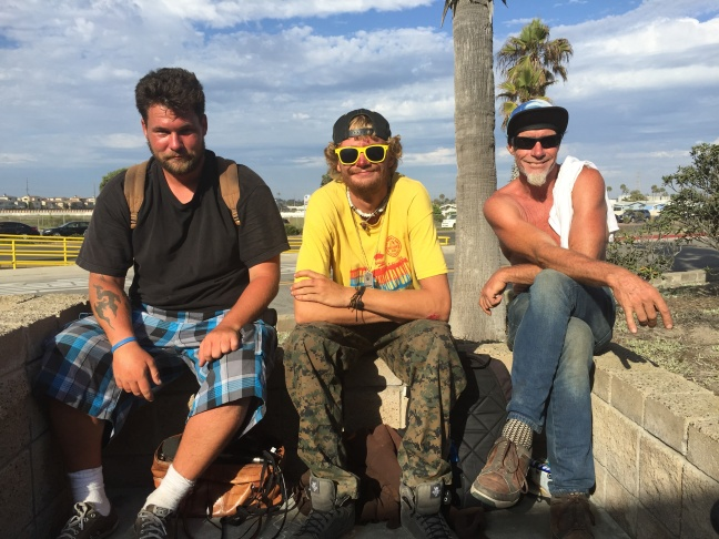 The estimated number of unsheltered homeless in Orange County's beach cities, precisely known as the 112-square mile of the O.C. 2nd supervisorial district, has more people than other county districts. Andrew (left), Dylan Rodeski, and Chris Kearney are homeless residents of Huntington Beach.