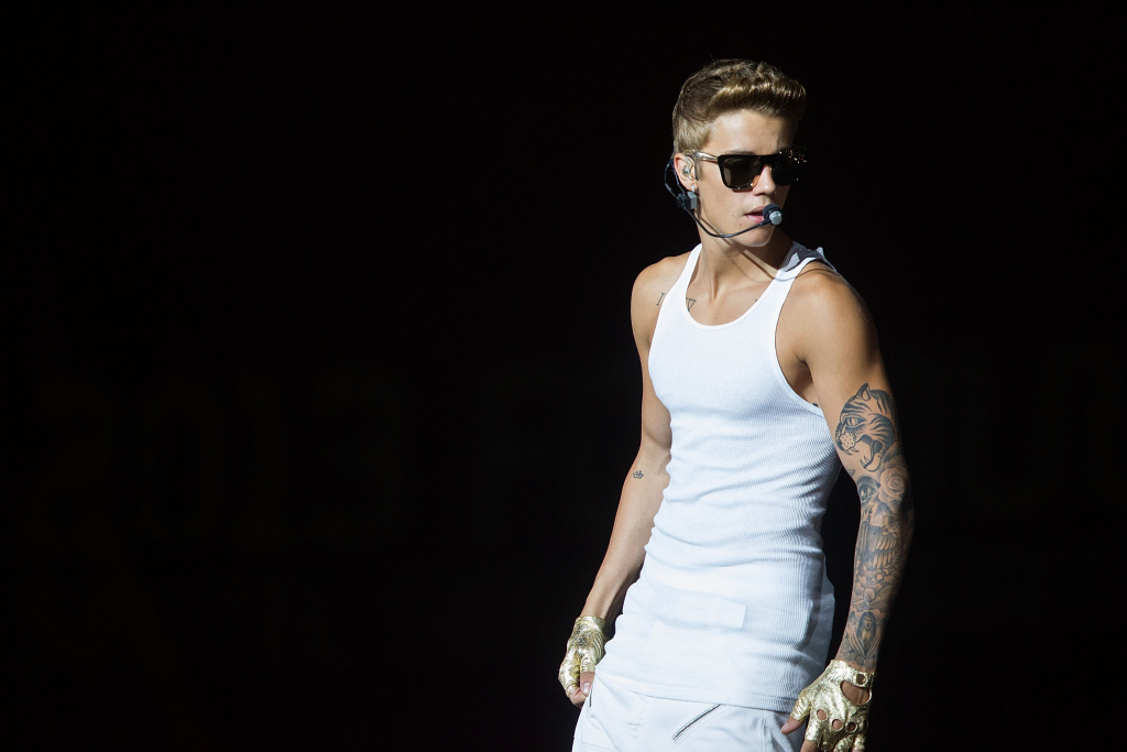 Justin Bieber performs live at the Padang Stage on Day 3 at the closing party of the Singapore Formula One Grand Prix on Sept. 23, 2013 in Singapore.