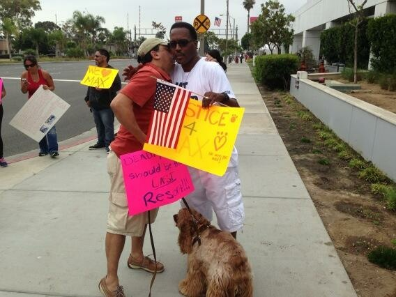The protest at Hawthorn Police Department grew throughout the day.