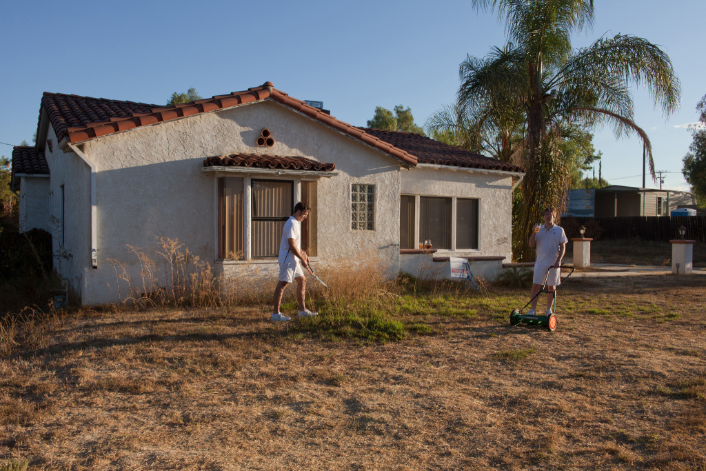 Foreclosed riverside homes being used as art with a for Foreclosed homes in southern california