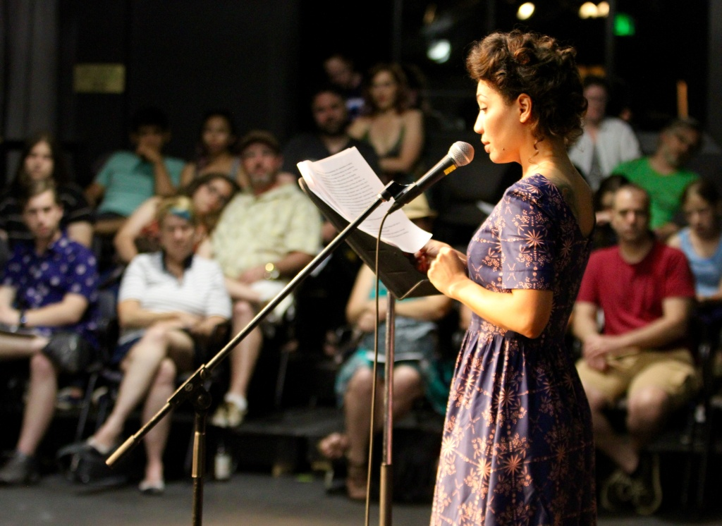 Actress Jasika Nicole reads at LitFest Pasadena 2017.