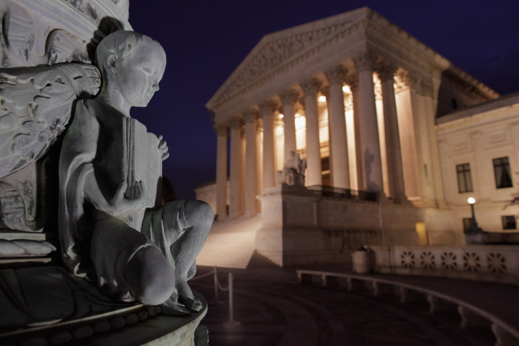 The west front of the U.S. Supreme Court Building on March 28, 2012 in Washington, DC.