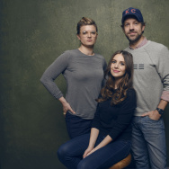 "(L-R) Director/writer Leslye Headland, actors Alison Brie and Jason Sudeikis of ""Sleeping with Other People"" pose for a portrait at the Village at the Lift Presented by McDonald's McCafe during the 2015 Sundance Film Festival on January 25, 2015 in Park City, Utah."