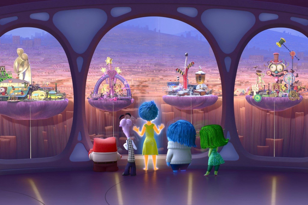 The five emotions of 'Inside Out'
