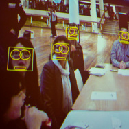 Privacy campaigner Adam Harvey ran CV Dazzle workshops. explaining the algorithms that make up different face recognition systems in popular software he demonstrated how to change your appearance to confuse facial recognition and surveillance systems.