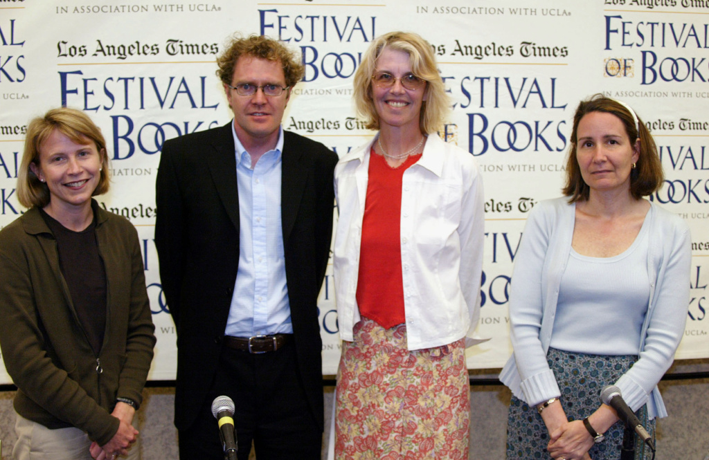 LA Times Festival of Books panelists and authors Kate Phillips, Ross King, Jame Smiley and Elizabeth Tayor take part in the