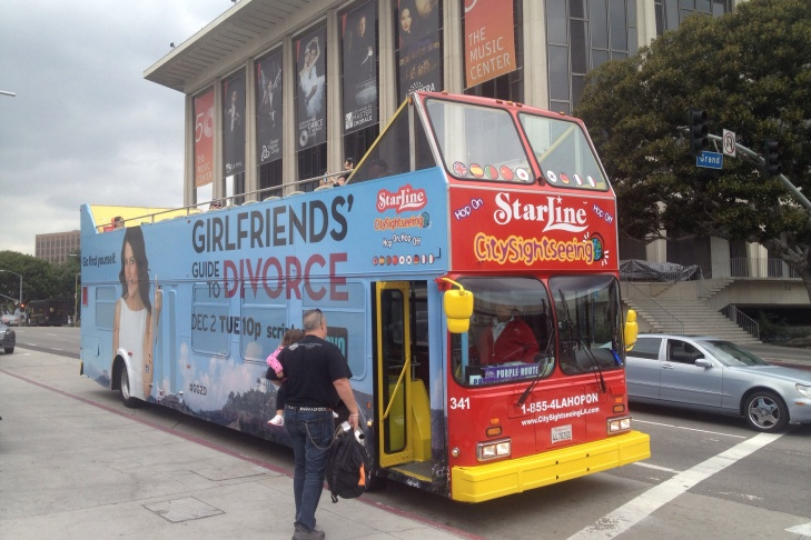 Starline Tour bus in downtown LA
