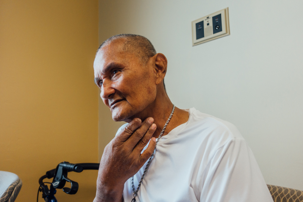 Army veteran Robert Galang participated in a clinical trial to manage the side effects of chemotherapy and radiation treatment at the Long Beach VA.