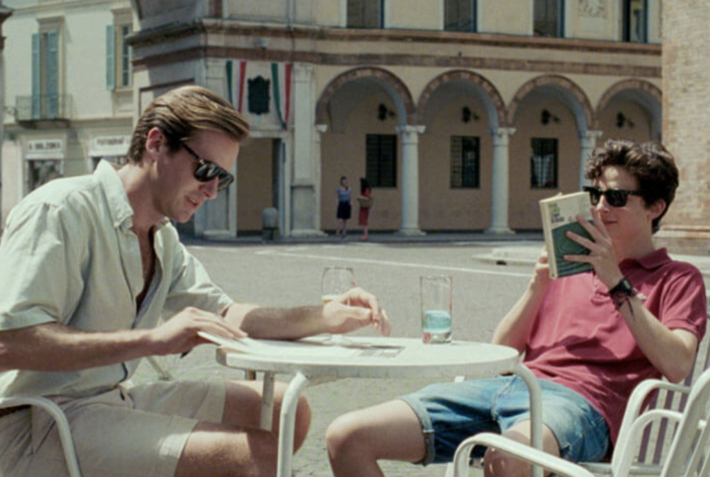 Armie Hammer (L) and Timothee Chalamet in James Ivory's adaptation of