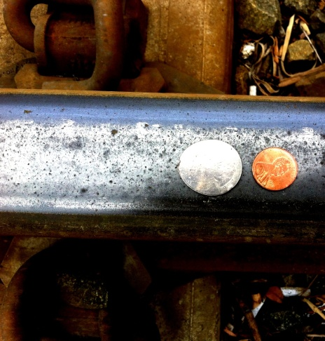 Coins after the Gold Line goes by.