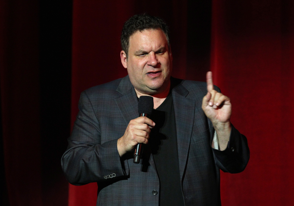 Performer Jeff Garlin performs onstage at the International Myeloma Foundation's 6th Annual Comedy Celebration hosted by Ray Romano benefiting The Peter Boyle Research Fund at The Wilshire Ebell Theatre on October 27, 2012 in Los Angeles, California.