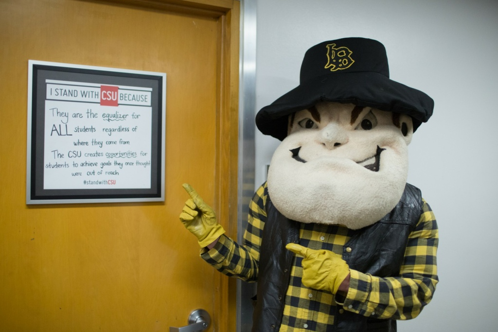 CSULB's mascot Prospector Pete has been a symbol of the university since 1949.
